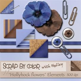 Hollyhock Elements | Other Files | Scrapbooking