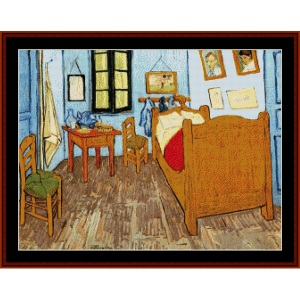 Bedroom at Arles - Van Gogh cross stitch pattern by Cross Stitch Collectibles | Crafting | Cross-Stitch | Wall Hangings