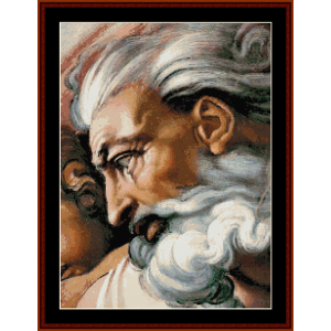 god - michelangelo cross stitch pattern by cross stitch collectibles