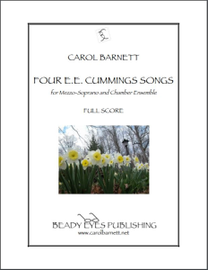 Four E.E. Cummings Songs (Full Score and Parts) | Music | Classical