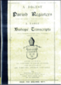 a digest of parish registers