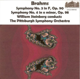 brahms: symphony no. 3 in f, op. 90; symphony no. 4 in e minor, op. 98 - william steinberg/pittsburgh symphony orchestra