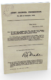 army council instruction no.225 (january 1916)