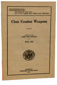 close combat weapons. (1917)