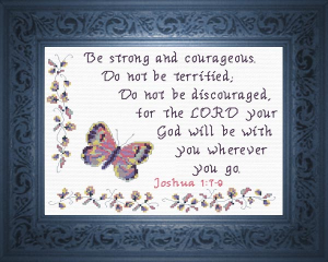 God Will Be With You | Crafting | Cross-Stitch | Religious