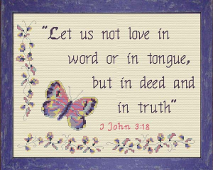 Love in Deed and in Truth | Crafting | Cross-Stitch | Religious