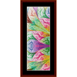 fractal 395 bookmark cross stitch pattern by cross stitch collectibles