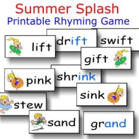 summer splash rhyming fun