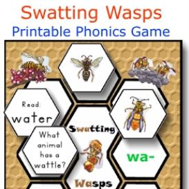 swatting wasps phonics game