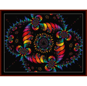fractal 111 cross stitch pattern by cross stitch collectibles