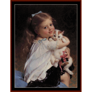 Her Best Friend - Emile Munier cross stitch pattern by Cross Stitch Collectibles | Crafting | Cross-Stitch | Wall Hangings