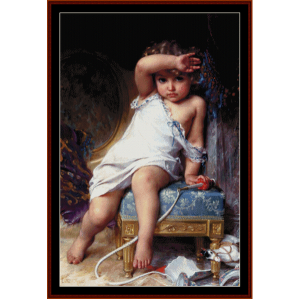 The Broken Vase - Emile Munier cross stitch pattern by Cross Stitch Collectibles | Crafting | Cross-Stitch | Wall Hangings