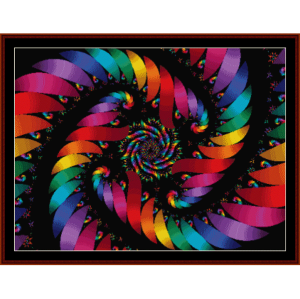 fractal 115 cross stitch pattern by cross stitch collectibles