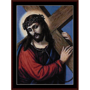 Jesus - Religious cross stitch pattern by Cross Stitch Collectibles | Crafting | Cross-Stitch | Wall Hangings