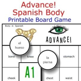 advance!  spanish body game