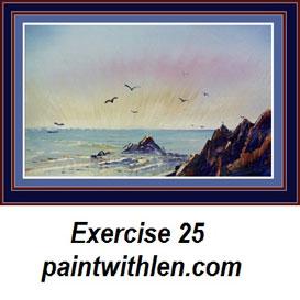 25 paint a sunrise
