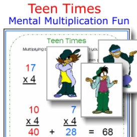 teen times: mental multiplication