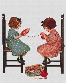 yarn cross stitch pattern