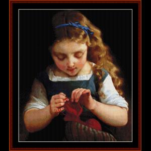 A Careful Stitch - Emile Munier cross stitch pattern by Cross Stitch Collectibles | Crafting | Cross-Stitch | Wall Hangings