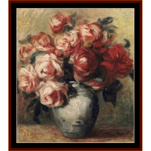 Nature Morte Aux Roses - Renoir cross stitch pattern by Cross Stitch Collectibles | Crafting | Cross-Stitch | Wall Hangings