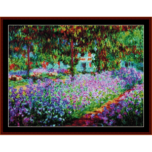 artists garden at giverny - monet cross stitch pattern by cross stitch collectibles