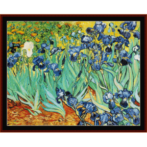 die iris - van gogh cross stitch pattern by cross stitch collectibles