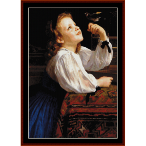dear bird - bouguereau cross stitch pattern by cross stitch collectibles