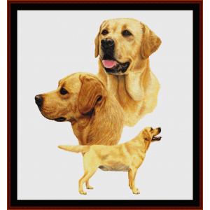 labradors - robert j. may cross stitch pattern by cross stitch collectibles