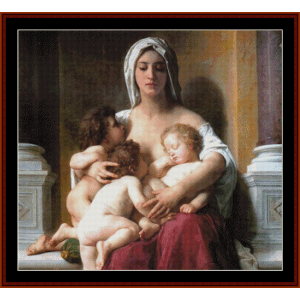 charity - bouguereau cross stitch pattern by cross stitch collectibles