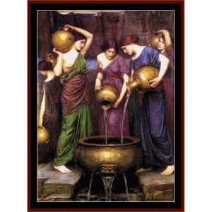 the danaides - waterhouse cross stitch pattern by cross stitch collectibles