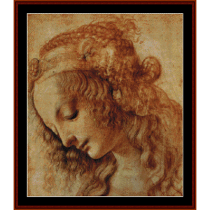 portrait of a woman- davinci cross stitch pattern by cross stitch collectibles