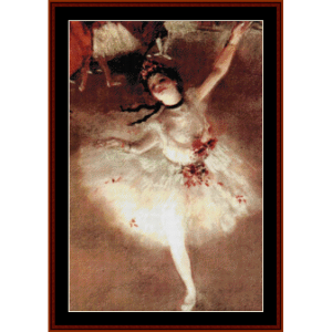 ballerina - degas cross stitch pattern by cross stitch collectibles