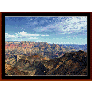 grand canyon ii cross stitch pattern by cross stitch collectibles