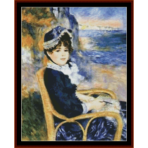 by the seashore - renoir cross stitch pattern by cross stitch collectibles