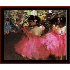 dancers in pink - degas cross stitch pattern by cross stitch collectibles