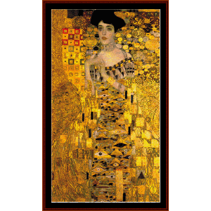 adele bloch bauer - klimt cross stitch pattern by cross stitch collectibles