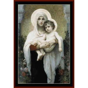 madonna of the roses - bouguereau cross stitch