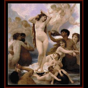 Birth of Venus - Bouguereau cross stitch pattern by Cross Stitch Collectibles | Crafting | Cross-Stitch | Wall Hangings