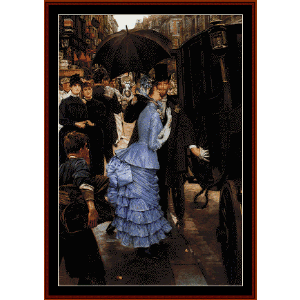 the traveller - tissot cross stitch pattern by cross stitch collectibles