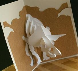 Triceratop Card - EasyCutPopup | eBooks | Arts and Crafts