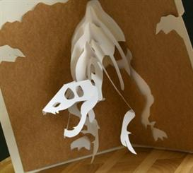 Raptor Card - EasyCutPopup | eBooks | Arts and Crafts