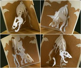 Jurassic Cards - EasyCutPopup | eBooks | Arts and Crafts