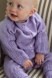 babyknittingpatterns - 0004b helena - cardigan, romper, bonnet and socks