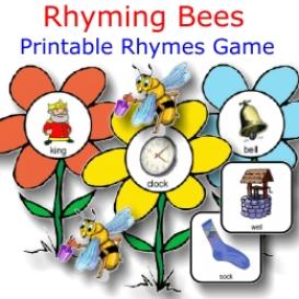 rhyming bees fun prek-k set