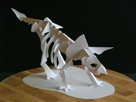 triceratops skeleton - easycutpopup