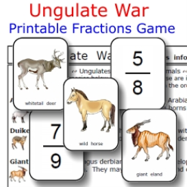 ungulate war:  comparing fractions