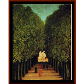 park of st. cloud - rousseau cross stitch pattern by cross stitch collectibles