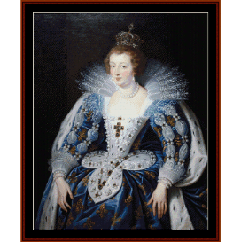 anna of austria - rubens cross stitch pattern by cross stitch collectibles