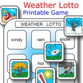 weather lotto printable game