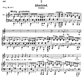 Abschied D.957-7, Medium Voice in C Major. F. Schubert, C.F. Peters | eBooks | Sheet Music
